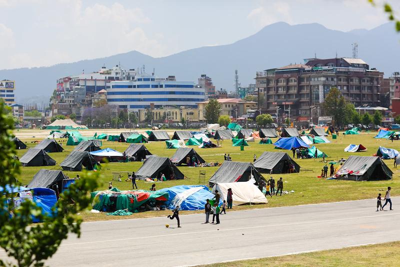 Tent village.