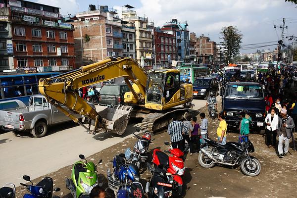 New Bus Park, Kathmandu, Nepal. (Photo by Mallory Olenius)