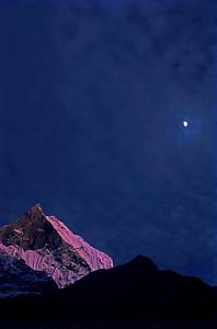 Moonrise Machapuchare