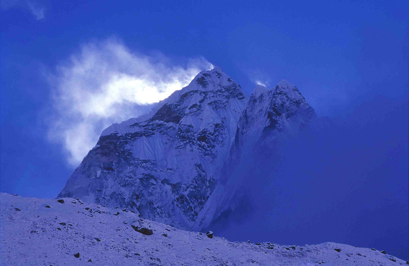 Ama Dablam from Pheriche after the snow storm - winter 2003