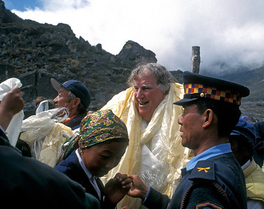 Sir Edmund Hillary at Khumjung School - October 1998