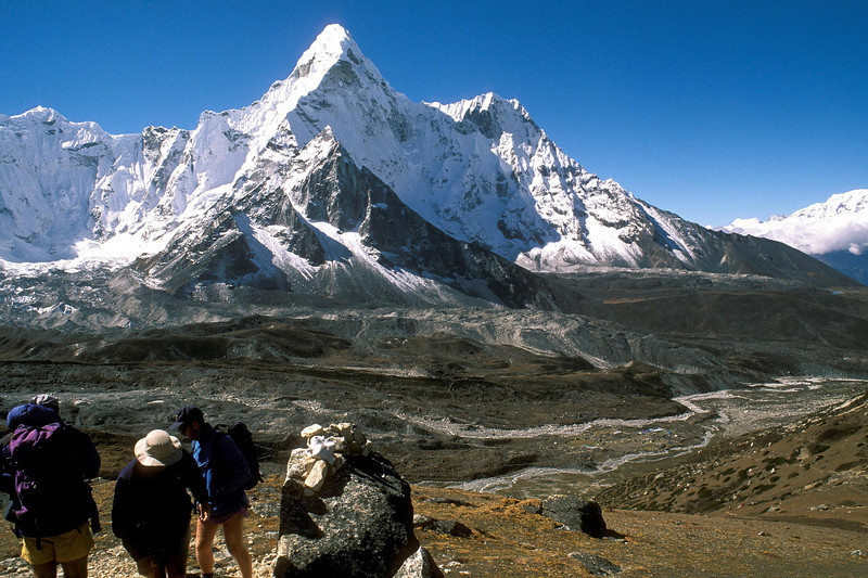 Ama Dablam from a viewpoint above Chukung