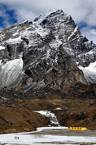 "Base Camp of Lobuche East peak, classified as a ""trekking peak"" in Nepal!"