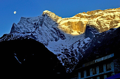 Kwangde from Namche Bazar at dawn