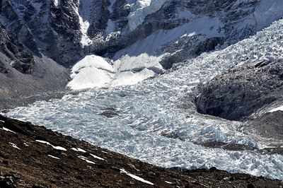 The Khumbu Icefall -  first climbed by the Everest Reconnaissance Expedition under Eric Shipton in 1951.
