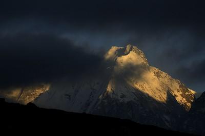 Nepal Peak at sunset from near Lhonak
