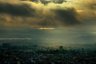 Monsoon evening over Kathmandu