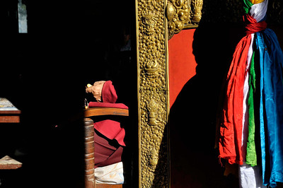Doorway  of a temple - Swayambhunath