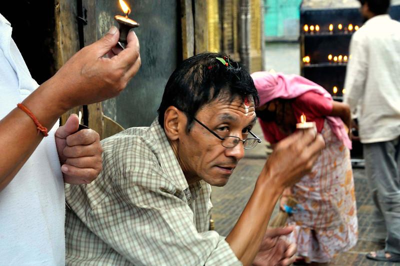 Prayers at Swayambhunath