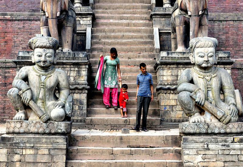 The steps of Nyatapola Temple, Taumidhi Tole, Bhaktapur