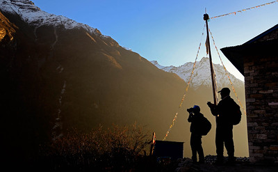 Photographers near Langtang Village