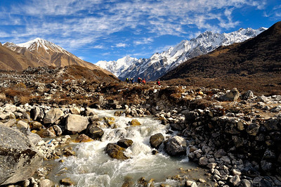 The Langtang Valley before reaching Kyanjin Gompa