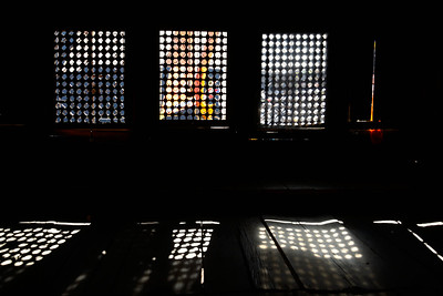 Windows of Langtang Monastery