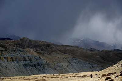 A storm approaching Lo Manthang