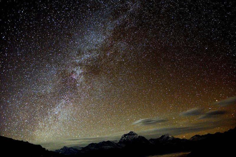 Dhaulagiri and the stars from Ghorepani