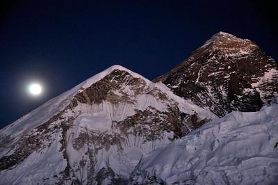 Everest from just below Kala Pattar - 5.45 pm Nov 27th 2012