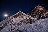 Everest from just below Kala Pattar - 5.45 pm Nov 27th 2012