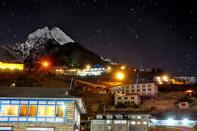 Thamserku and Namche Bazar