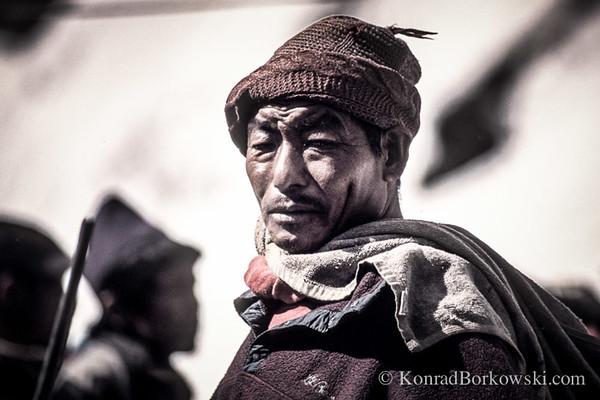 Gurkha guide, Machapuchare Base Camp, Himalayas, Nepal