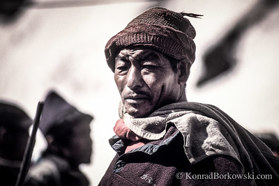 Gurkha guide, Machapuchare Base Camp, Himalayas, Nepal