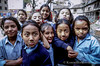 Nepali girls at school in Kathmandu, Nepal