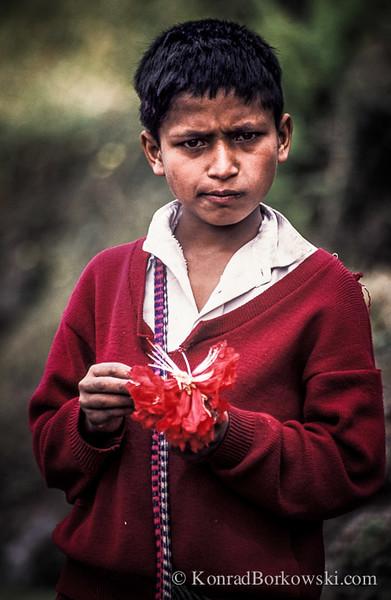 Nepali child, Pokhara, Nepal