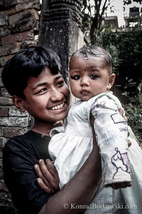 Nepali children, Kathmandu, Nepal