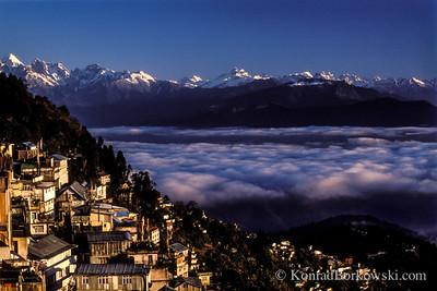 Darjeeling at sunrise, India