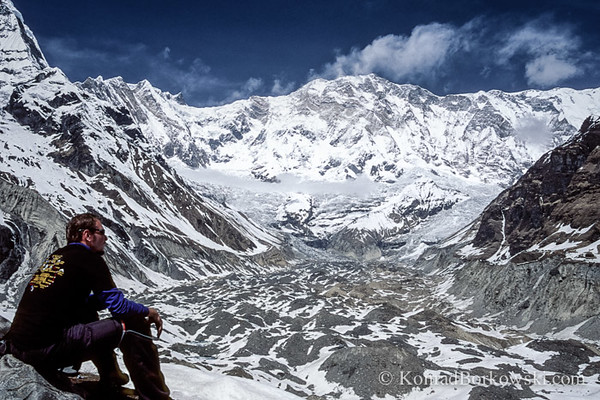 Trekker at Annapurna Base Camp, Himalayas, Nepal