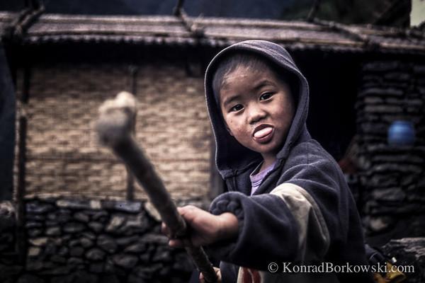 Nepali child, Himalayas, Nepal