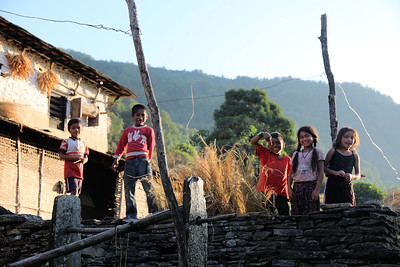 Children in Gurung village