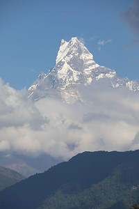 Machapuchare (Fishtail mountain) 22,943 ft