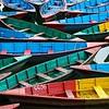 Boats on Phewa Lake, Kathmandu