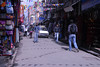 One of the busy narrow streets of Thamel.