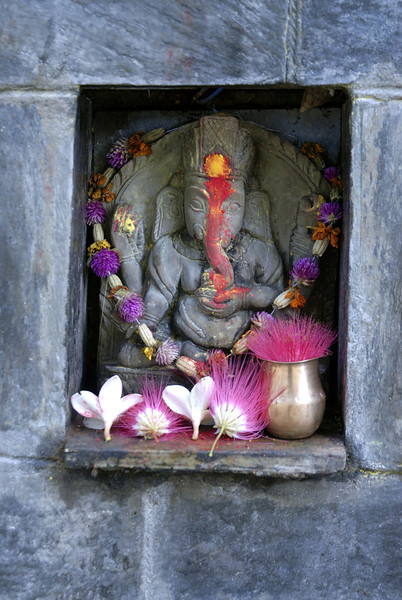 Ganesh, a deity of good fortune.