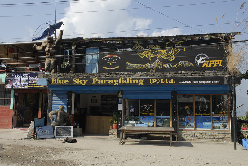Paragliding is a huge tourist and sporting activity in Pokhara.