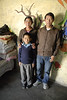 Govinda and his wife who is the cook at the school and thier son. All are from Mustang.