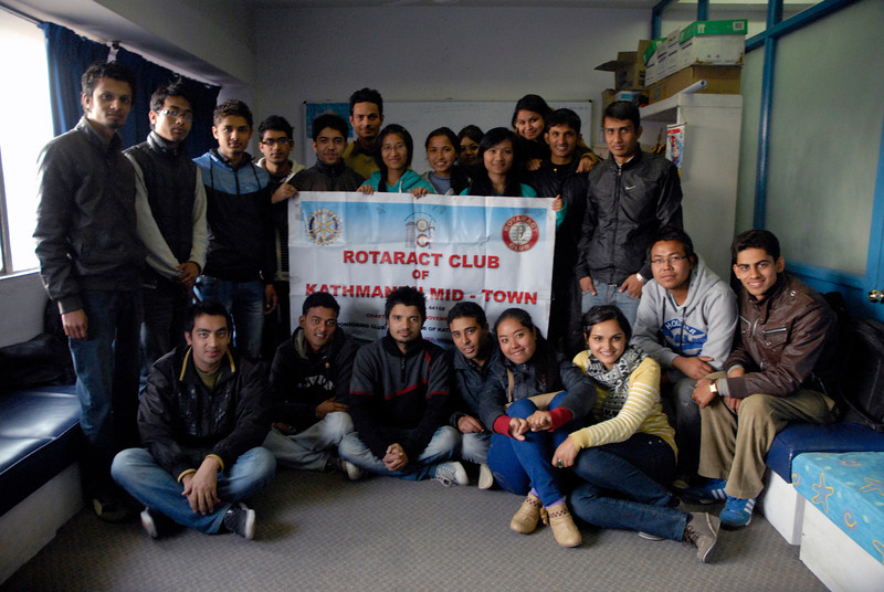 These are the Rotaractors who made the event a reality.