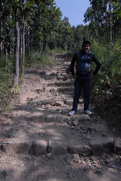 This is Biprendra, he took me for my last mountian trek while in Chitwan.