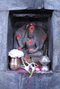 At the entrance there are two small Hindu deities greeting visitors.