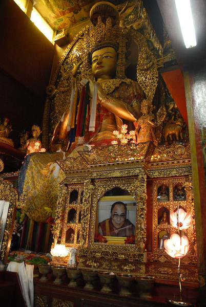 Inside the temples are huge Buddhas and other Tibetan deities.