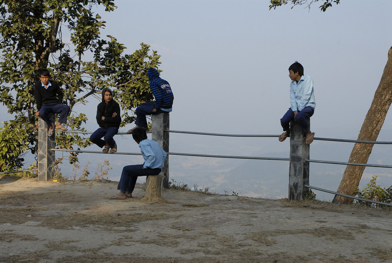 These were local (Bandipur) students hanging out.