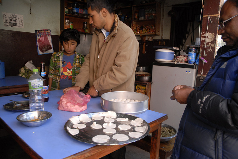 And...next door they were making Momos! I had to stay and watch and ask questions.