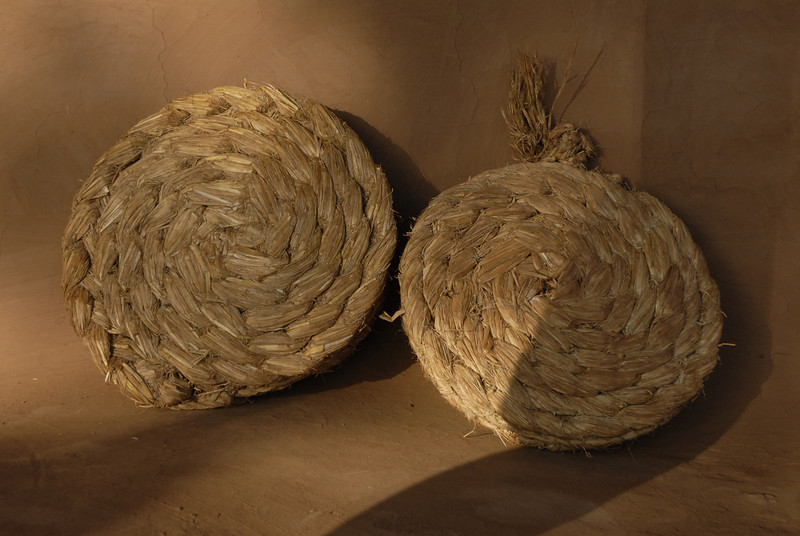 Simple straw cushions.