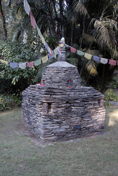 A small Stupa at the Island Garden Resort where Dhiren works.