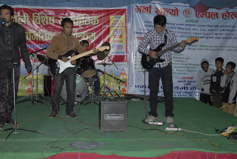 This was a band from Kathmandu that put traditional songs to rock music. Everyone loved this.