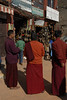 There are hundreds of monks in the village.