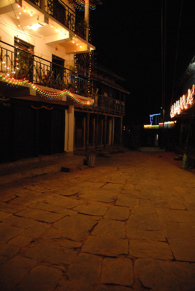 Candles and mini lights decorate the homes during Tihar.