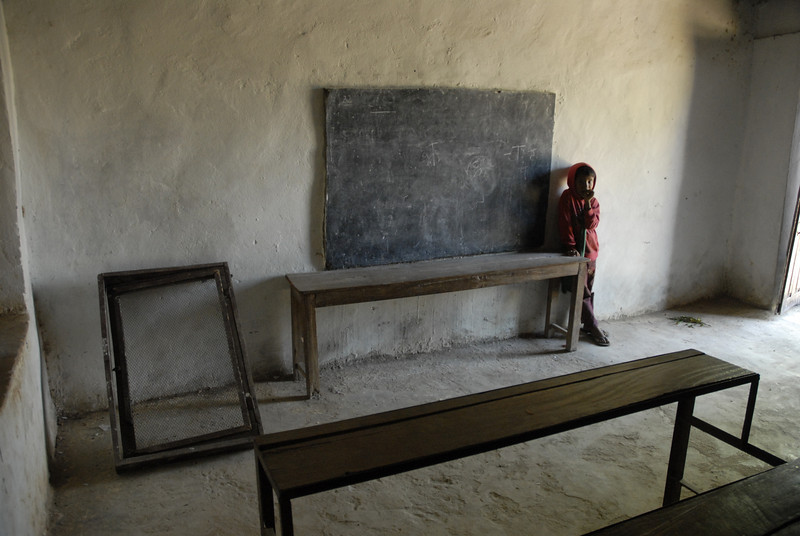 This was one of the classrooms. Needless to say we were very unhappy with this situation. It was made clear that these rooms needed to be of the same standard as the teacher's room or further funding would cease.