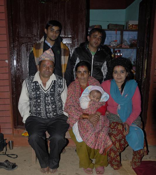 Krishna and family.